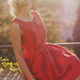 Amazing young woman in red dress - PhotoDune Item for Sale