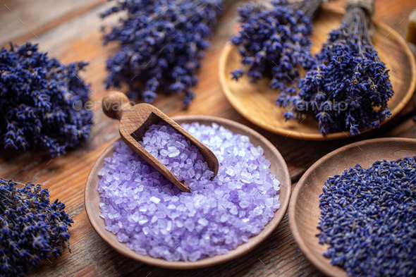 Aromatherapy with natural salt - Stock Photo - Images