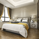 luxury modern bedroom suite in hotel with wardrobe and walk in closet - PhotoDune Item for Sale