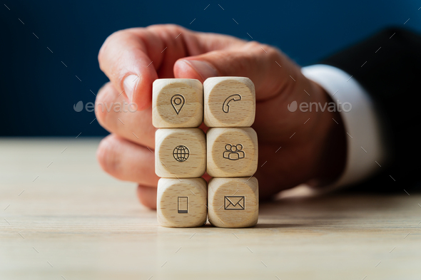 Conceptual image of business support and service - Stock Photo - Images
