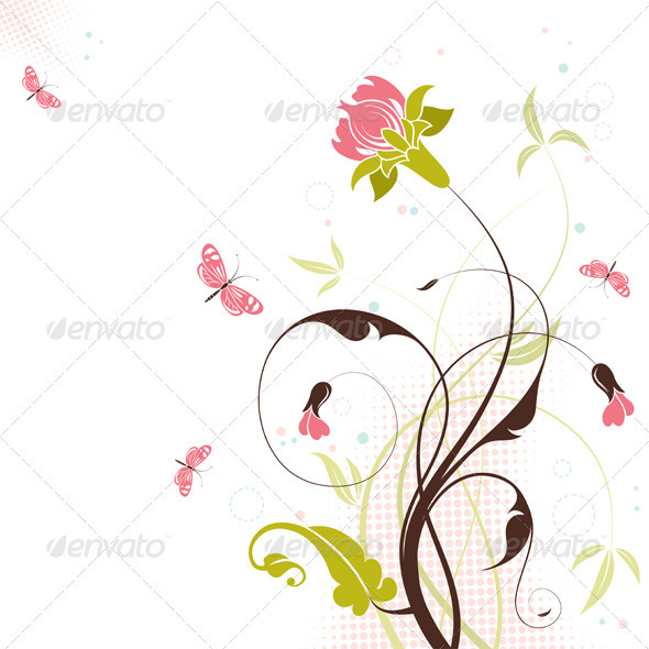 Floral theme - Flourishes / Swirls Decorative