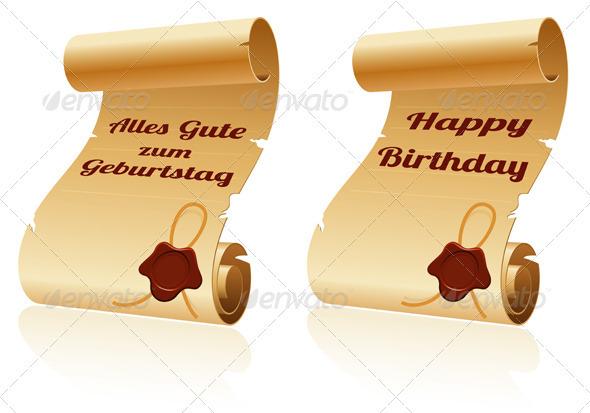 Old Scroll Paper - Birthdays Seasons/Holidays