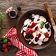 Lazy dumplings, vareniki with fresh berries. Boiled cottage cheese gnocchi with berries - PhotoDune Item for Sale