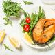 Salmon fish with fresh salad - PhotoDune Item for Sale
