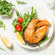 Salmon fish with fresh salad - PhotoDune Item for Sale