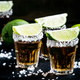 Mexican tequila in a glass, sprinkle with salt with slices of lime - PhotoDune Item for Sale