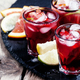 Spanish sangria with fruit and ice, selective focus - PhotoDune Item for Sale