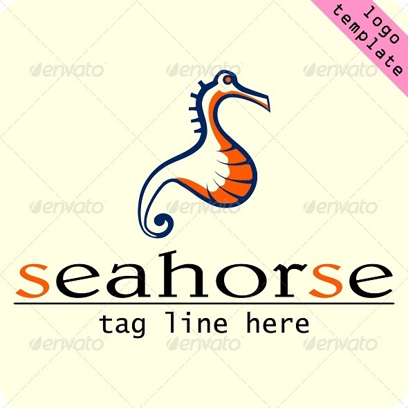sea horse logo template - Animals Logo Templates
