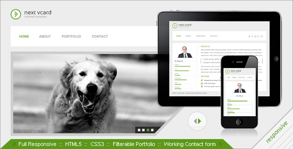 Next vcard responsive personal theme by nextwpthemes themeforest screenshots00previewg flashek Image collections