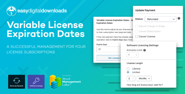 EDD Variable License Expiration Dates