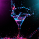 Colourful cocktail in glass with splash - PhotoDune Item for Sale