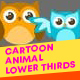 Cartoon Animal Lower Thirds - VideoHive Item for Sale