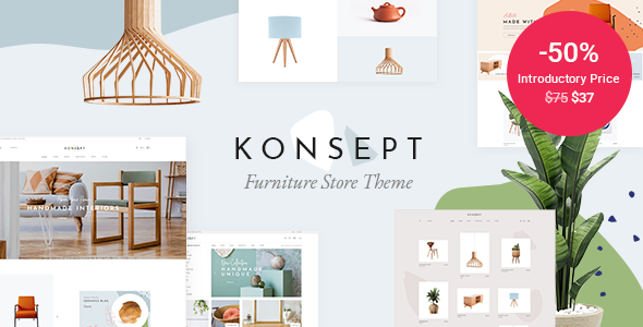 Download Konsept – Furniture Store Theme Free Nulled