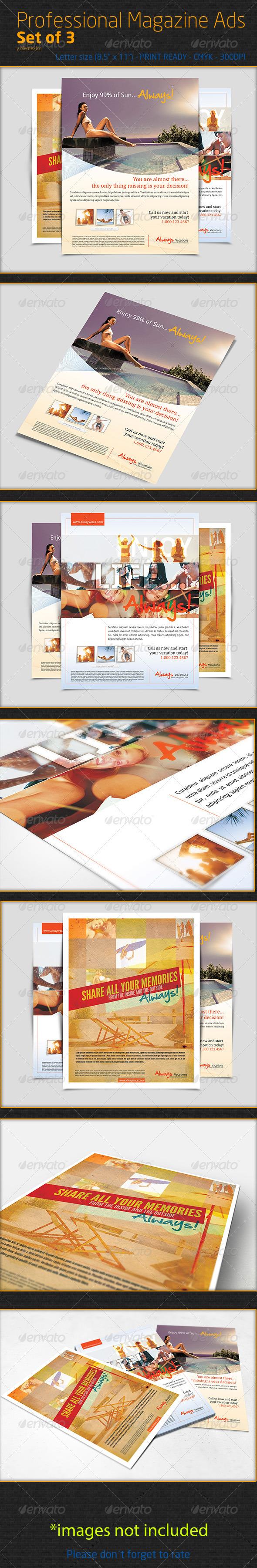 Professional Magazine Ads - Magazines Print Templates