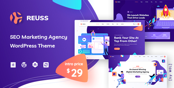 Download Reuss – SEO Marketing Agency WordPress Theme Free Nulled