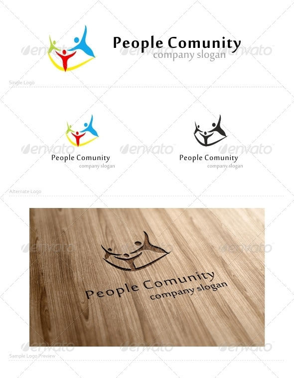 People Comunity - Humans Logo Templates