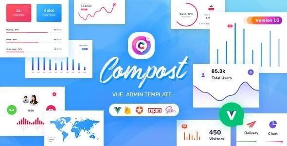 Compost Vue - Vuejs Admin Template