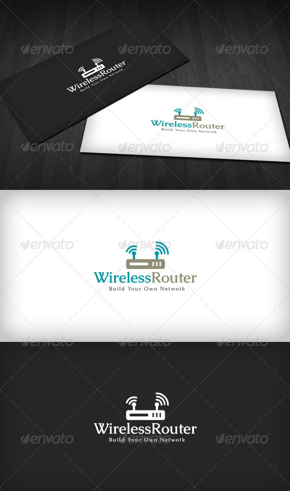 Wireless Router Logo - Symbols Logo Templates