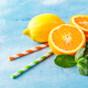 Refreshing cocktails with mint with lemon, orange, mint and ice - PhotoDune Item for Sale