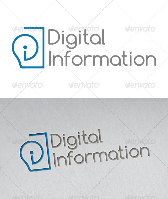 Digital Information - Abstract Logo Templates