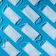 Medical masks on blue background. Face mask protection,  virus, flu, coronavirus, COVID-19 - PhotoDune Item for Sale