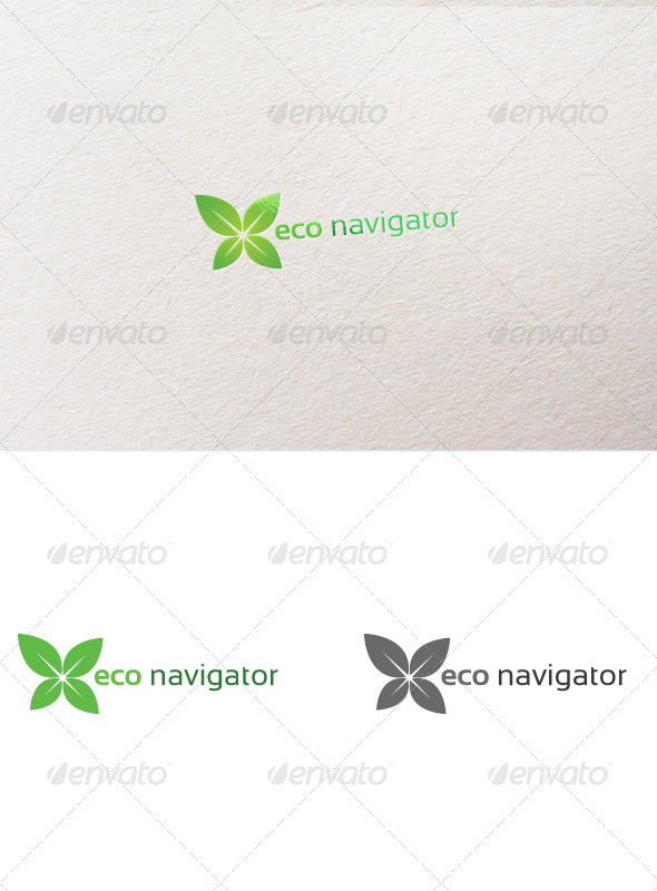 Eco Navigator - Nature Logo Templates
