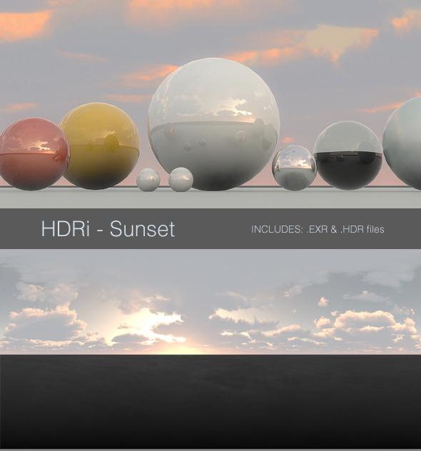 HDRi - Sunset - 3DOcean Item for Sale