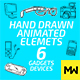 Hand Drawn 06 Gadgets & Devices (Pack of 52) - VideoHive Item for Sale