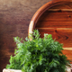 Fresh dill on the old wooden table - PhotoDune Item for Sale