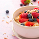 Porridge with Fresh Berry Fruits. Healthy Breakfast - PhotoDune Item for Sale