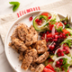 Grilled Poultry with Healthy Salad.Light Diet Lunch - PhotoDune Item for Sale