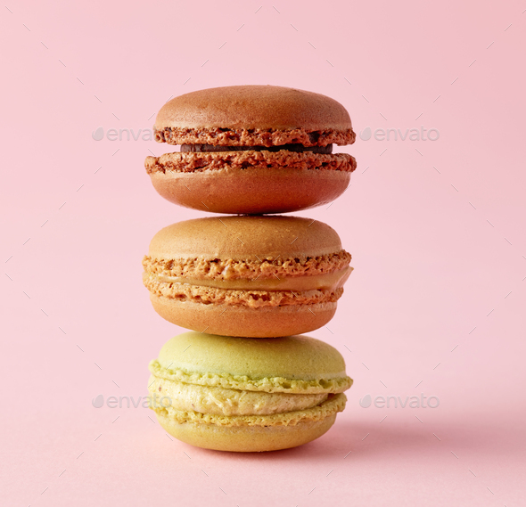 stack of macaroons - Stock Photo - Images