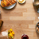 Overhead Flat Lay Shot Of Table Laid For Breakfast With Toast Cereal Croissant Pastries And Flowers - PhotoDune Item for Sale