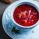 Traditional russian beetroot soup with parsley - PhotoDune Item for Sale