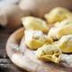 Italian homemade tortellini on the wooden table - PhotoDune Item for Sale