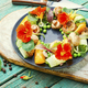 Summer vegetable salad with flowers. - PhotoDune Item for Sale