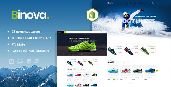 Binova | Shoes Store Shopify Theme