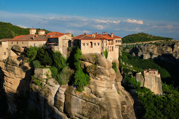 Monasteries of Meteora, Greece - Stock Photo - Images