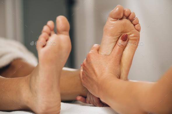 Reflexology Foot Massage - Stock Photo - Images