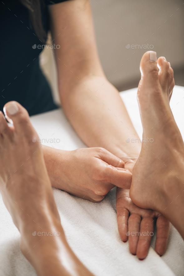 Foot Reflexology Massage - Stock Photo - Images