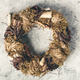 Autumn wreath on vintage background - PhotoDune Item for Sale