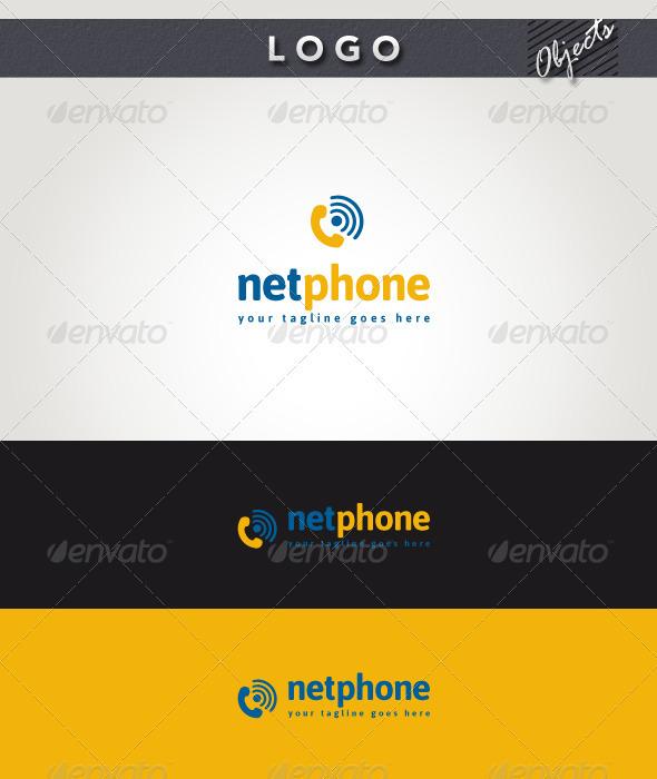 Net Phone Logo - Objects Logo Templates