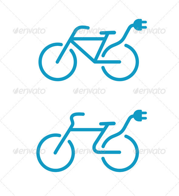 Electric bicycle icon - Technology Conceptual