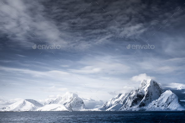 Snow-capped mountains - Stock Photo - Images