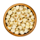 Dried shelled white lotus nuts, water lily seeds in wooden bowl - PhotoDune Item for Sale