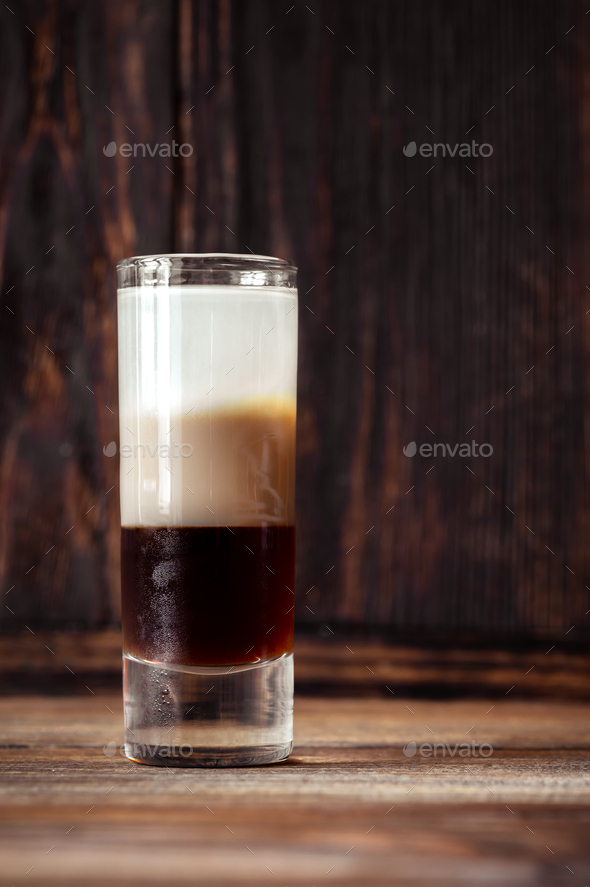 Glass of B-52 cocktail - Stock Photo - Images