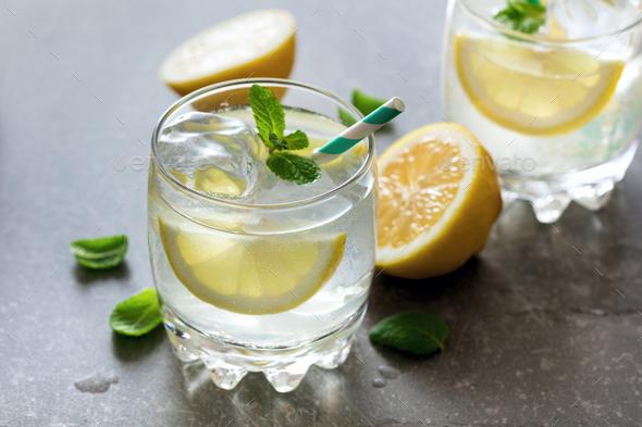 Two glasses of lemonade - Stock Photo - Images