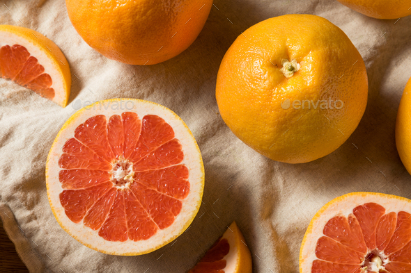 Raw Organic Ruby Red Grapefruit - Stock Photo - Images