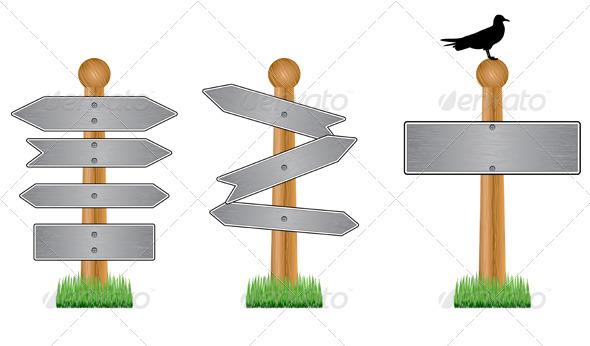 Metal crossroad signs - Borders Decorative