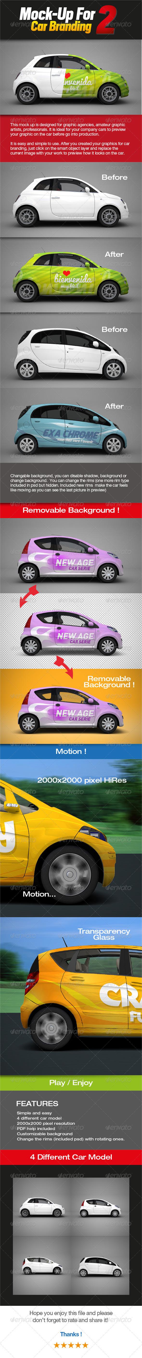 Mock-up for Car Branding 2 - Vehicle Wraps Print